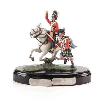 Chas C Stadden Highland and Dragoon Soldiers Painted Pewter Figurine