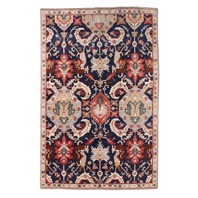 6'1 x 9'6 Hand-Knotted Caucasian Karabagh Area Rug