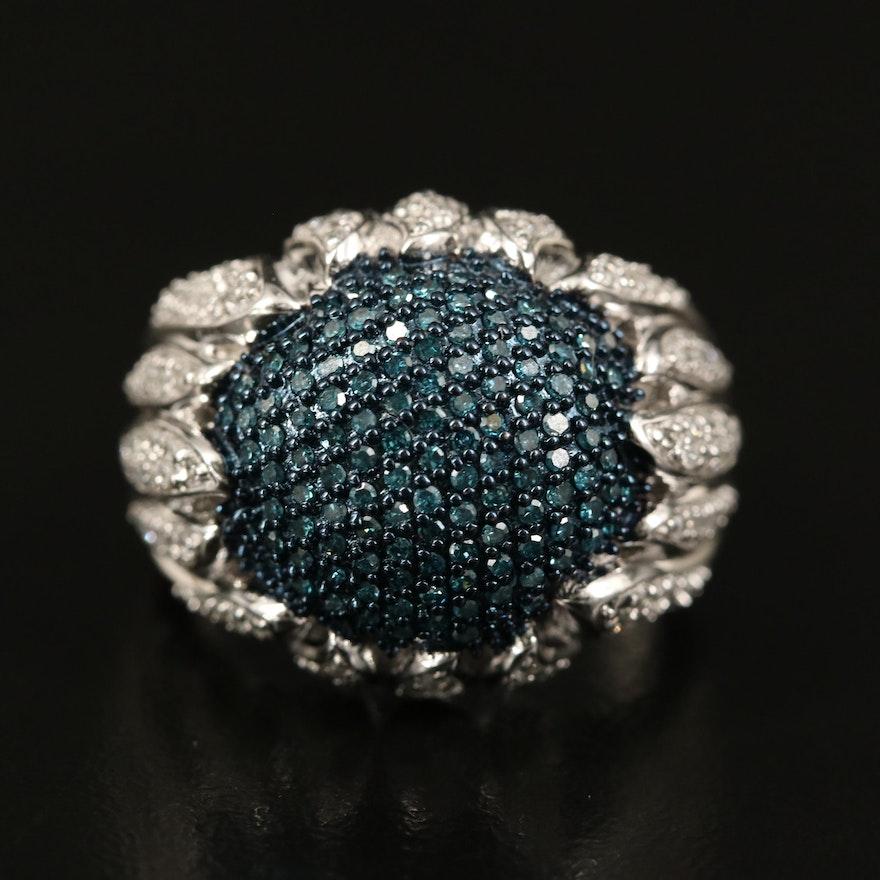 Sterling Pavé Diamond Dome Ring