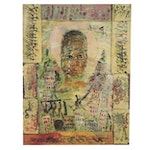 """Purvis Young Offset Lithograph """"Tears of the Young,"""" Late 20th Century"""