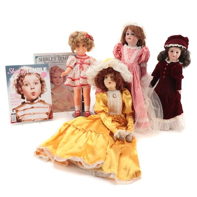 German Bisque Dolls, Shirley Temple, Composition Doll