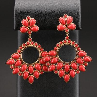 Sterling Coral Earrings
