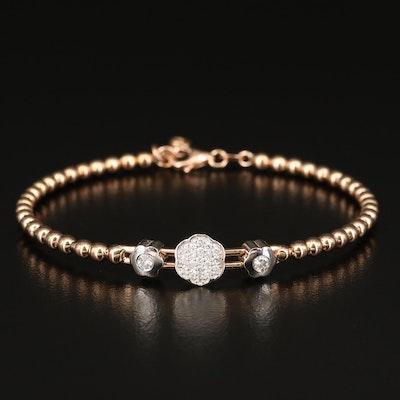 18K Diamond Flower Bracelet