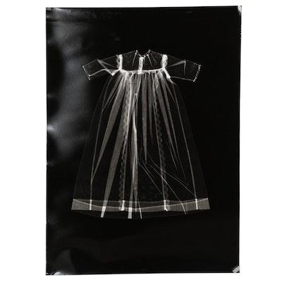 Karen Savage Life-Size Photogram of Christening Gown
