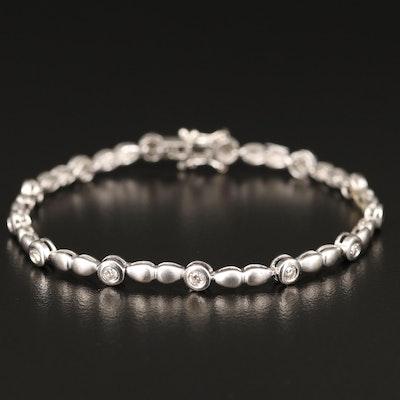 18K Diamond Station Bracelet