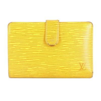 Louis Vuitton Porte-Monnaie Kiss Lock Wallet in Tassil Yellow Epi Leather