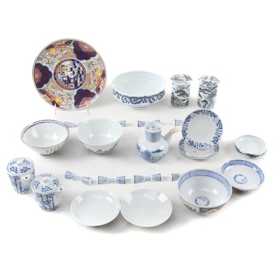 Japanese Imari and Other Porcelain Tableware, Late 20th Century