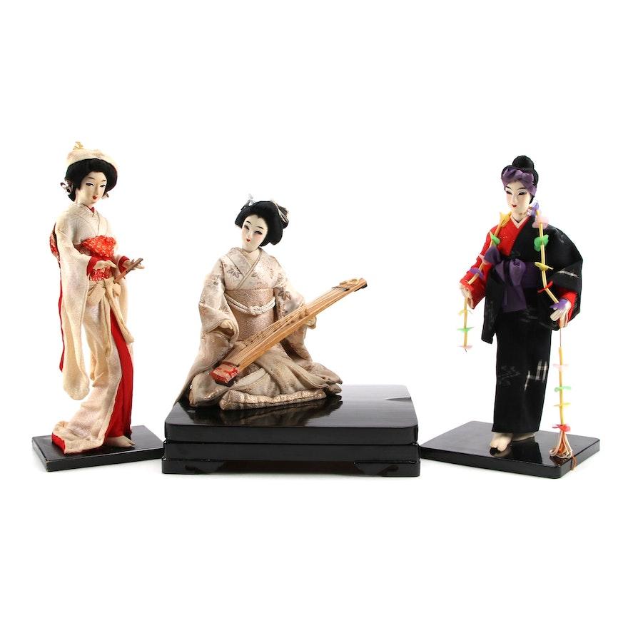 Japanses Cloth Dolls, Late 20th Century