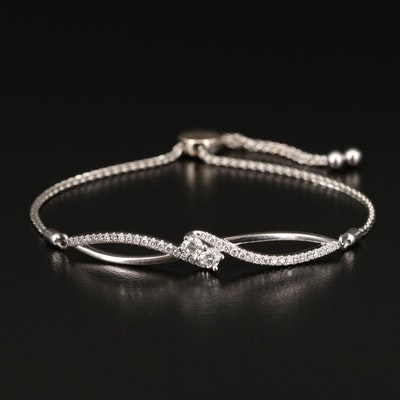Ever Us 14K Diamond Bolo Bracelet