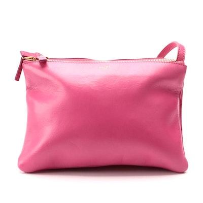 Céline Trio Pink Leather Crossbody Bag