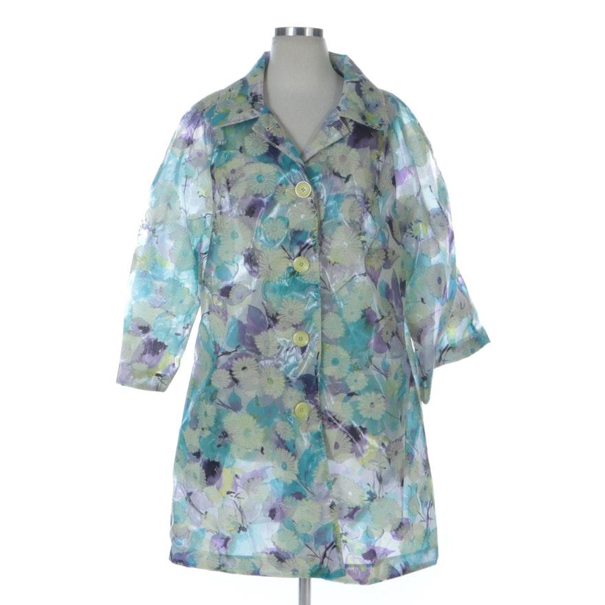 Cassin New York Sheer Floral Organza Jacket