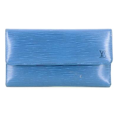 Louis Vuitton Porte-Trésor International Wallet in Myrtille Blue Epi Leather