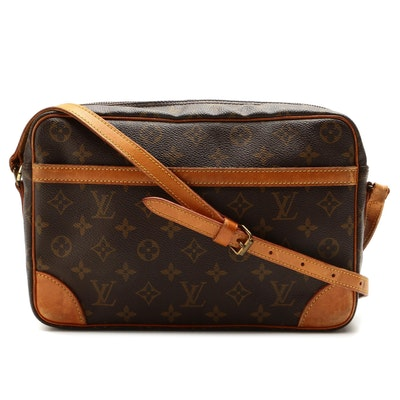 Louis Vuitton Trocadero 30 Crossbody Bag in Monogram Canvas and Vachetta Leather