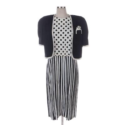 Jeffrey & Dara Petite Contrast Patterned Dress Suit