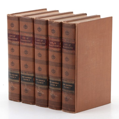 """The Life of George Washington"" Five-Volume Set by John Marshall, 1926"