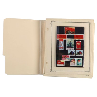 International Airmail Postage Stamp Collection with Commemorative Chinese Stamps
