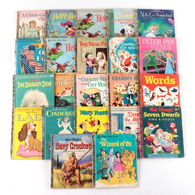 """Little Golden Books Including """"Davy Crockett,"""" """"Peter Pan,"""" and More, 1948–1980"""