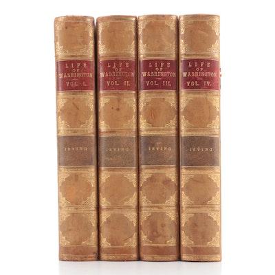 """The Life of George Washington"" Four-Volume Book Set by Washington Irving, 1904"