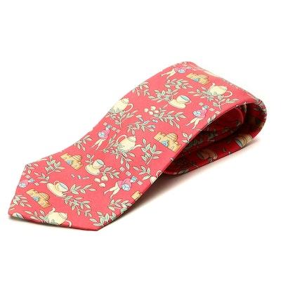Hermès 7501 IA Hand-Stitched Silk Twill Necktie