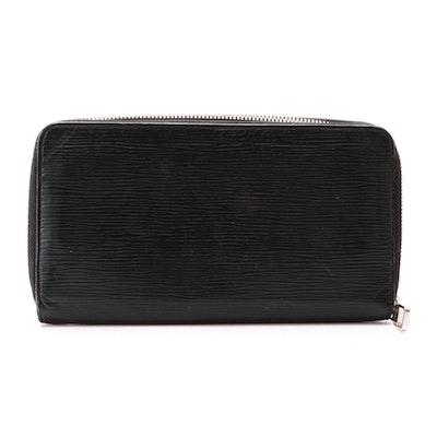 Louis Vuitton Continental Zip Wallet in Black Epi Leather