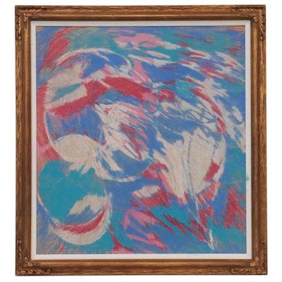 Oscar Murillo Abstract Pastel Drawing