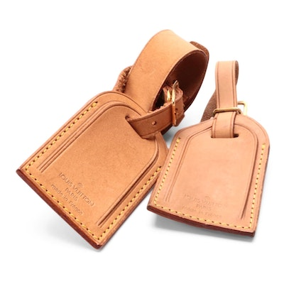 Louis Vuitton Vachetta Leather Luggage Tags and Poignet