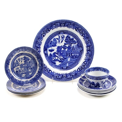 John Stevenson & Sons and Other English Blue Willow Transferware
