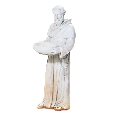 St. Francis of Assisi Cast Plaster Garden Statue