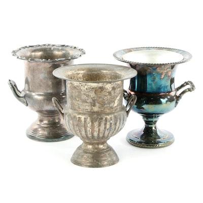 Leonard, International Silver and Wm Rogers Silver Plate Ice Buckets