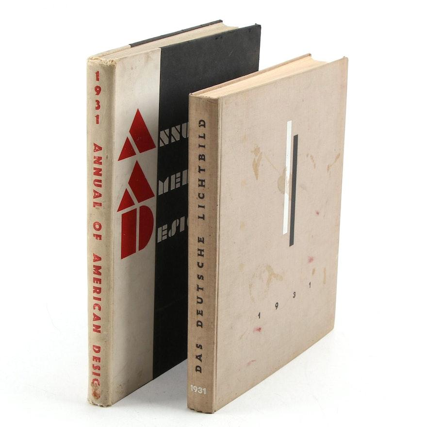 """""""Annual of American Design"""" and German Language """"Das Deutsche Lichtbild,"""" 1930"""