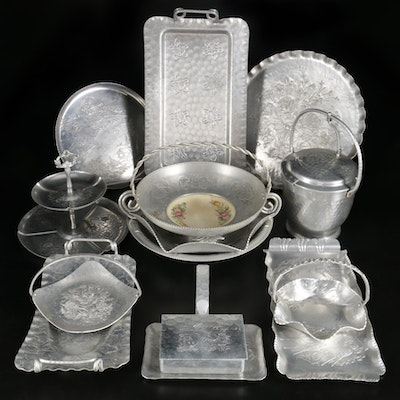 Gailstyn, Cauterbury, Wendell and Other Aluminum Serveware and Trays