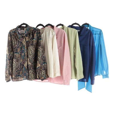 Kathy Che and Other Solid and Patterned Blouses