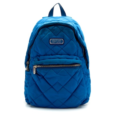 Marc by Marc Jacobs Crosby Quilted Backpack in Blue Nylon