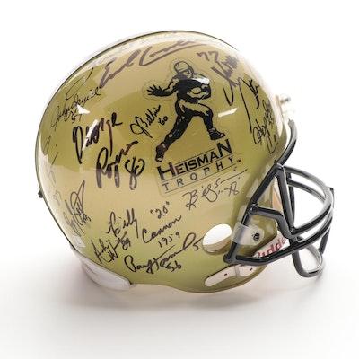 NCAA Heisman Trophy Winners Signed Riddell Full Size Football Helmet, Global COA