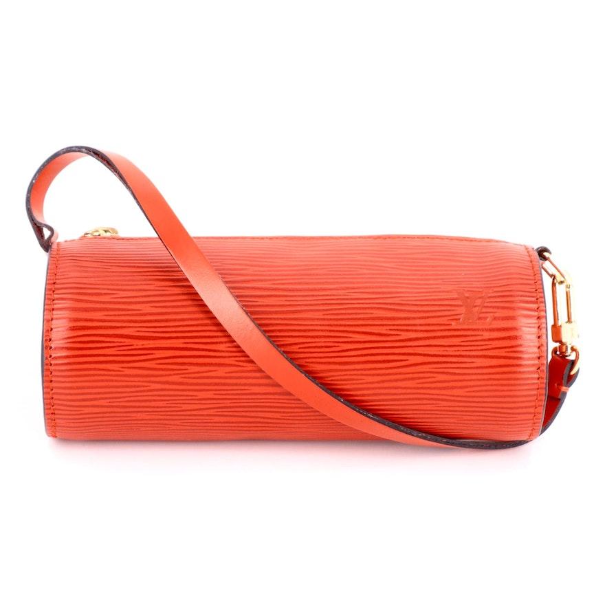 Louis Vuitton Mini Papillion Bag in Red Epi Leather