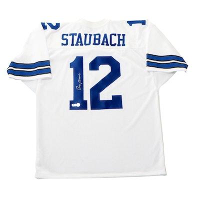 Roger Staubach Signed Dallas Cowboys NFL Football Jersey, COAs