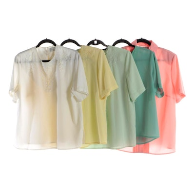 Laura Scott, Sara Stephen and Other Blouses with Neckline Detailing