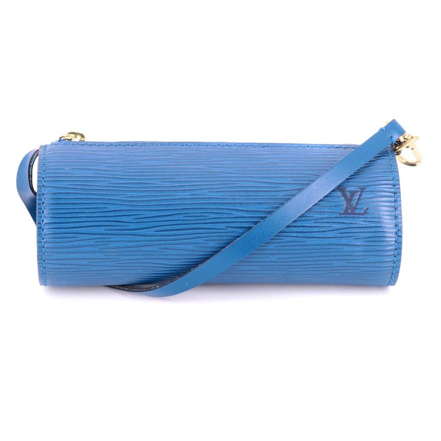 Louis Vuitton Mini Papillion Bag in Toledo Blue Epi Leather