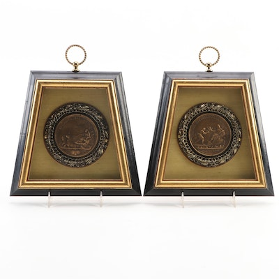 French Navy Medals Replica Wall Décor, Late 20th Century