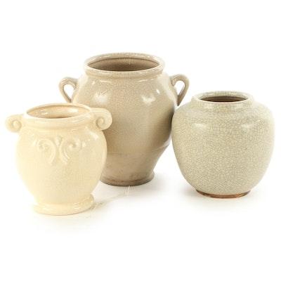 Art Pottery Crackle Ceramic Vases