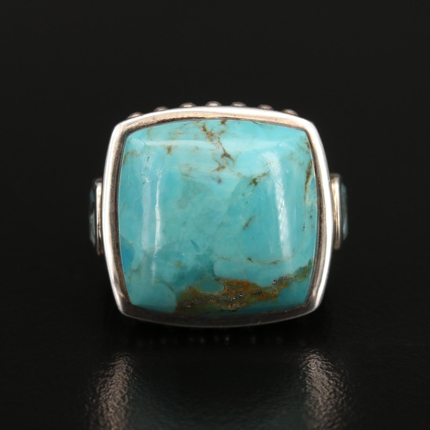 Sterling Turquoise and Topaz Ring