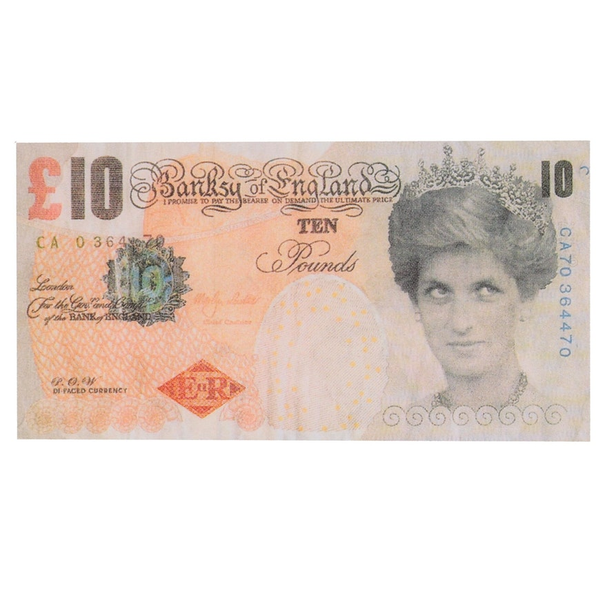 """Giclée after Banksy """"Di-Faced Tenner,"""" 21st Century"""