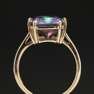 9K Topaz Solitaire Ring