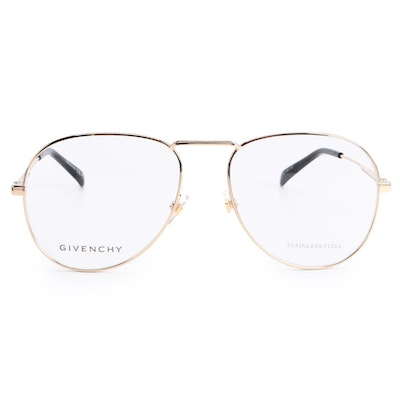Givenchy GV0117 Light Gold Wash Eyeglass Frames with Case and Box