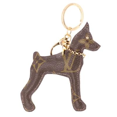 Canine Key Chain Featuring Louis Vuitton Monogram Canvas