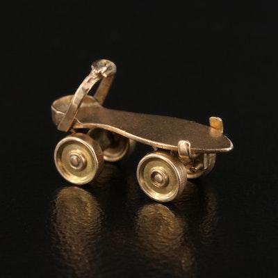 Vintage 14K Articulated Roller Skate Charm
