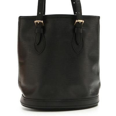 Louis Vuitton Petite Bucket Bag in Black Epi Leather