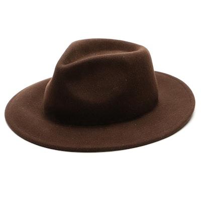 Pendleton Outback Weather-Resistant Brown Wool Felt Hat with Knox Hat Box