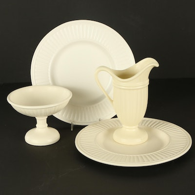 Royal Haeger Pottery Cream Creamic Chargers, Compote and Pitcher