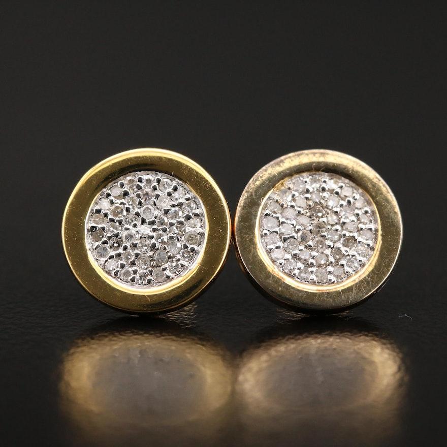 Sterling Pavé Diamond Earrings